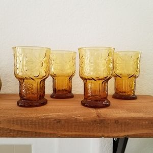 Rare Vintage Lot of 4 glasses